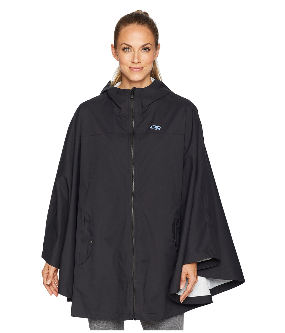 Outdoor Research Panorama Point Poncho (Black) Women's Cl...