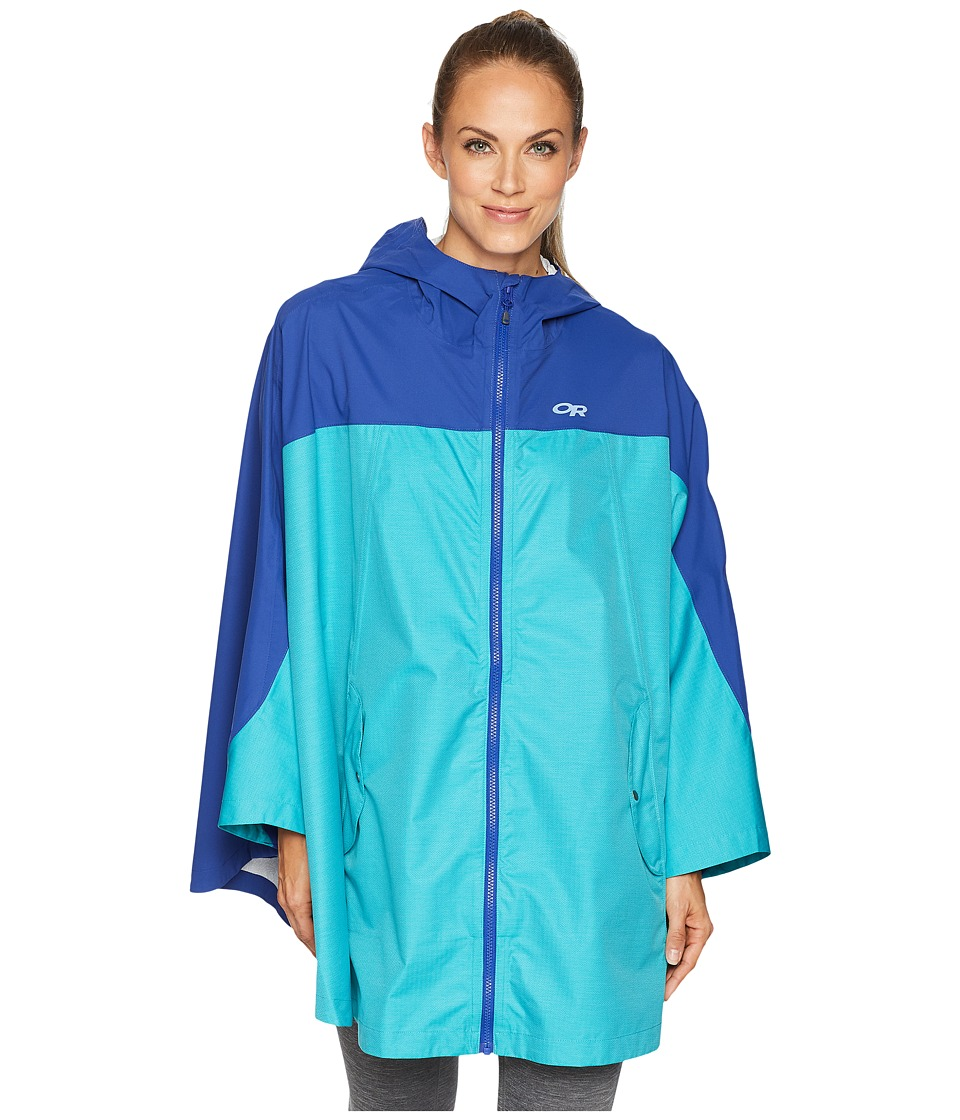Outdoor Research Panorama Point Poncho (Baltic/Typhoon) W...