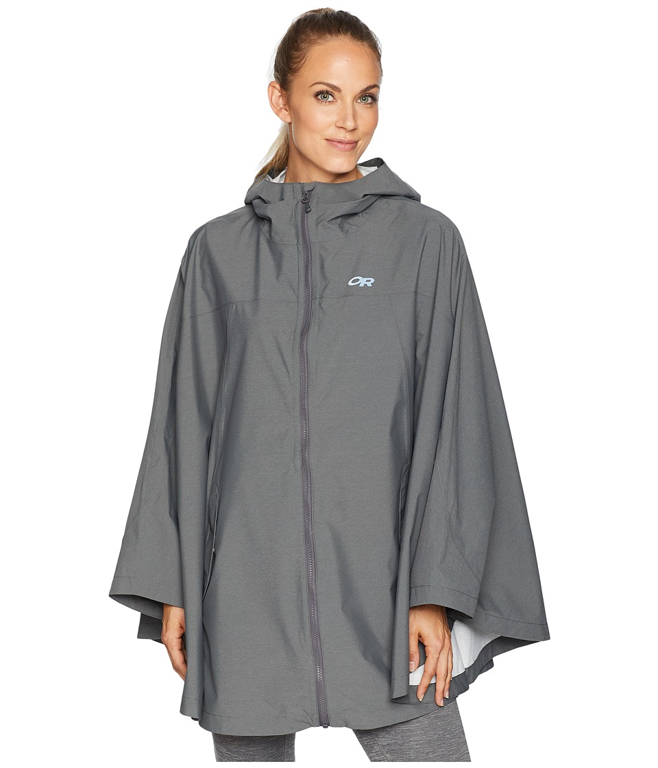 Outdoor Research Panorama Point Poncho (Charcoal Heather)...