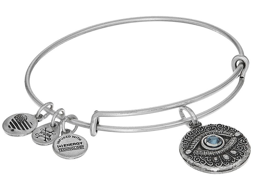 Alex and Ani - Evil Eye Bangle (Rafaelian Silver) Bracelet
