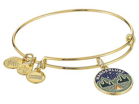 Alex and Ani Words are Powerful Wanderlust Bangle - Shiny Gold