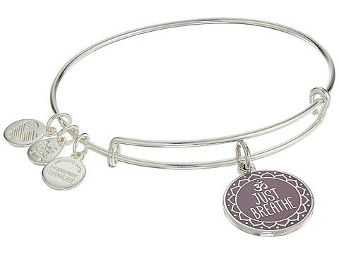 Alex and Ani Words are Powerful Just Breathe Bangle - Shiny Silver