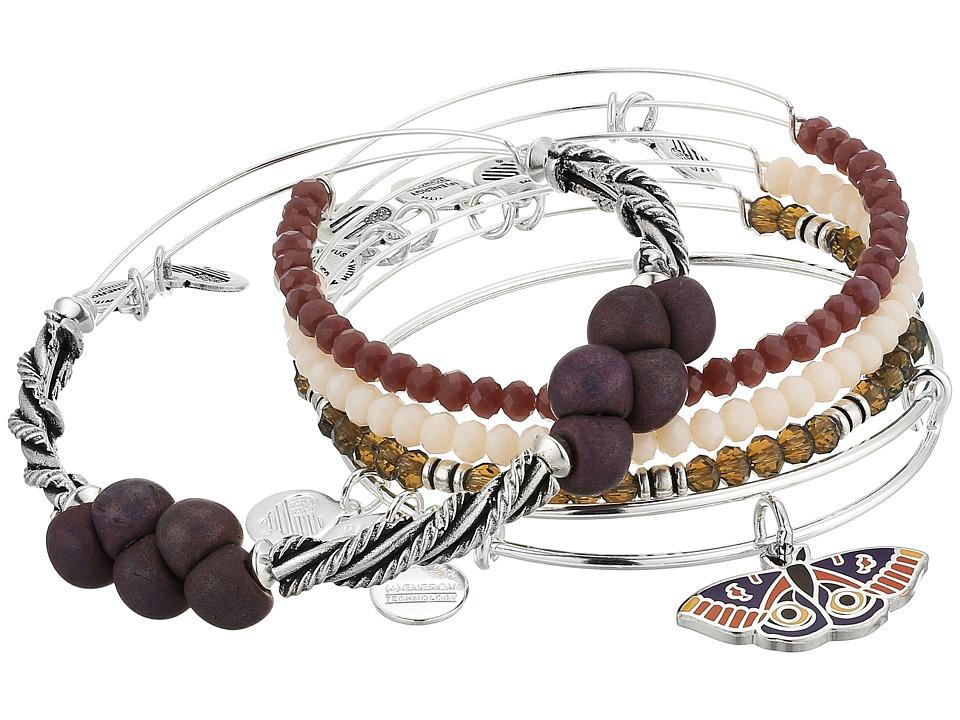 Alex and Ani - Moth Bracelet Set of 5