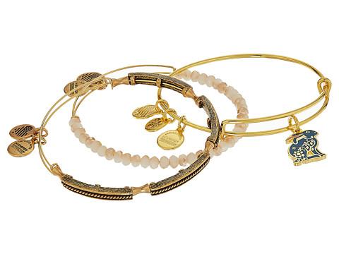 Alex and Ani Rabbit Bracelet Set of 3 - Shiny Gold