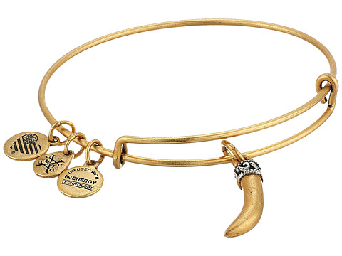 Alex and Ani Horn Bangle - Rafaelian Gold