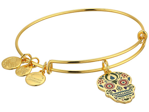 Alex and Ani Color Infusion Calavera Bangle - Shiny Gold