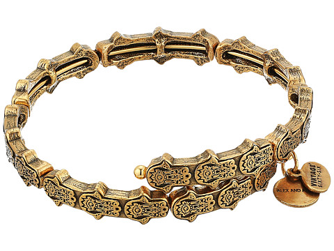 Alex and Ani Hand of Fatima Wrap Bracelet - Rafaelian Gold