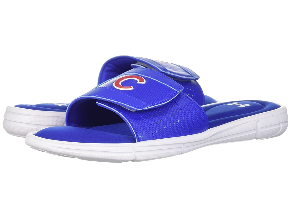 Under Armour - Ignite MLB V SL Chicago Cubs (White/Team Royal/Red) Mens Sandals