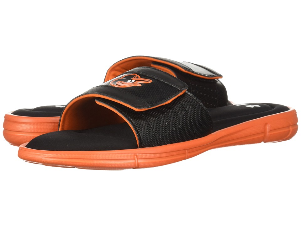 Under Armour - Ignite MLB V SL Baltimore Orioles (Black/Team Orange/White) Mens Sandals