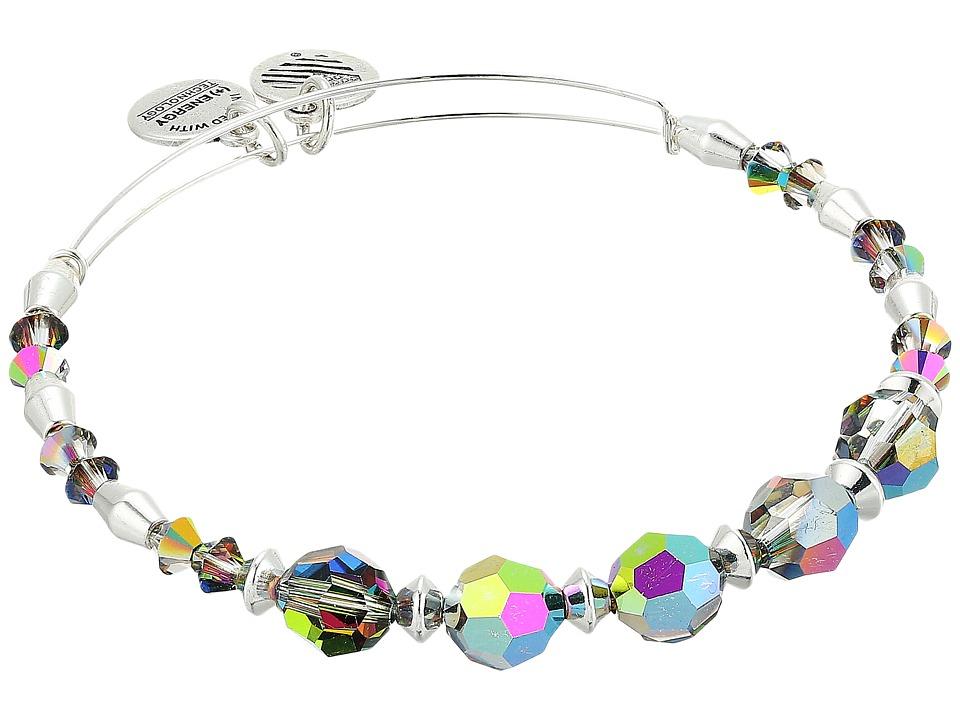 Alex and Ani - Swarovski Crystal Beaded Mirror II Bangle (Shiny Silver) Bracelet