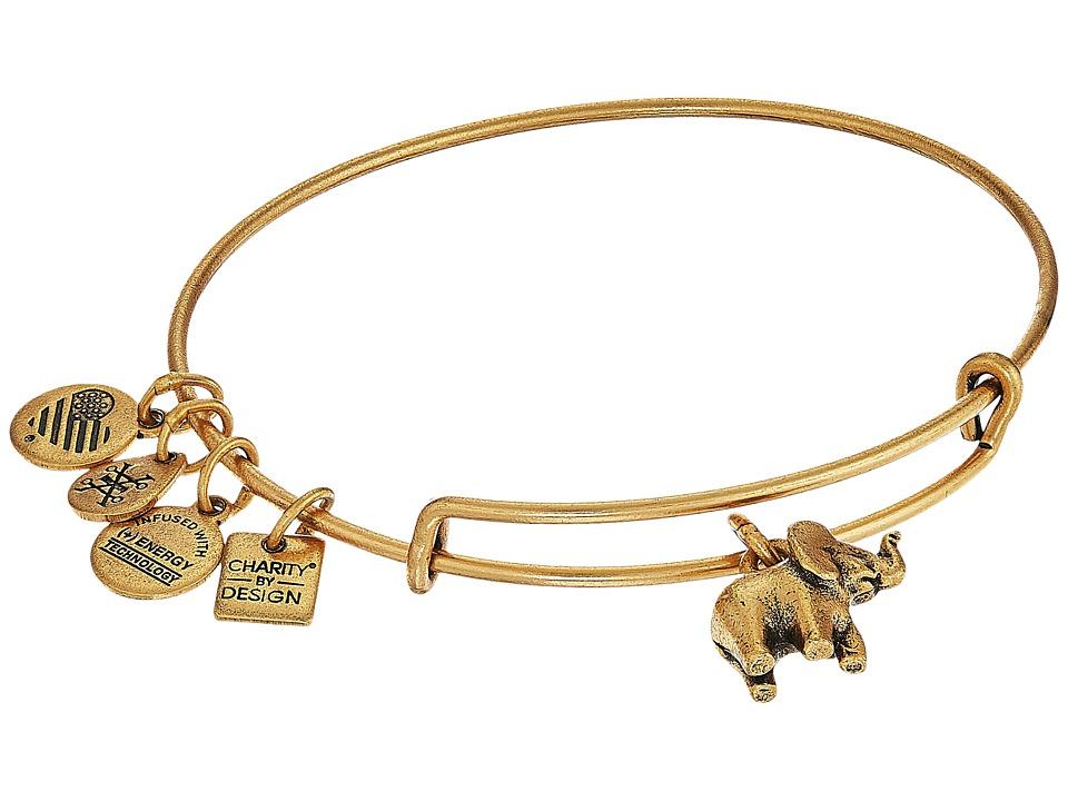 Alex and Ani - Charity By Design Elephant II Bangle (Rafaelian Gold) Bracelet