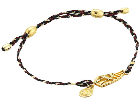 Alex and Ani Precious Threads Wing Woodland Braid Bracelet - 14Kt Gold Plated