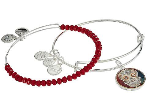 Alex and Ani Art Infusion Calavera II Bracelet Set - Shiny Silver