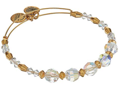 Alex and Ani Swarovski Crystal Beaded Frost Bangle - Shiny Gold