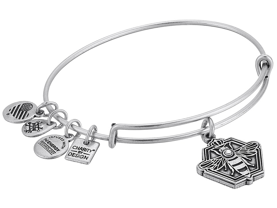Alex and Ani - Charity By Design Queen Bee Bangle (Rafaelian Silver) Bracelet