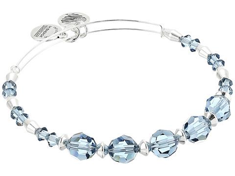 Alex and Ani Swarovski Crystal Beaded Chill Bangle - Shiny Silver