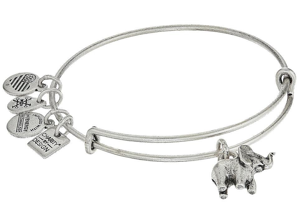 Alex And Ani Charity By Design Elephant II Bangle (Rafaelian Silver) Bracelet