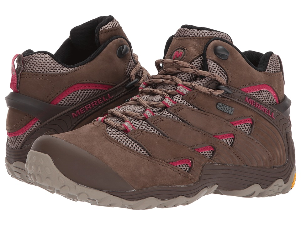Merrell Chameleon 7 Mid Waterproof (Merrell Stone) Women's Shoes