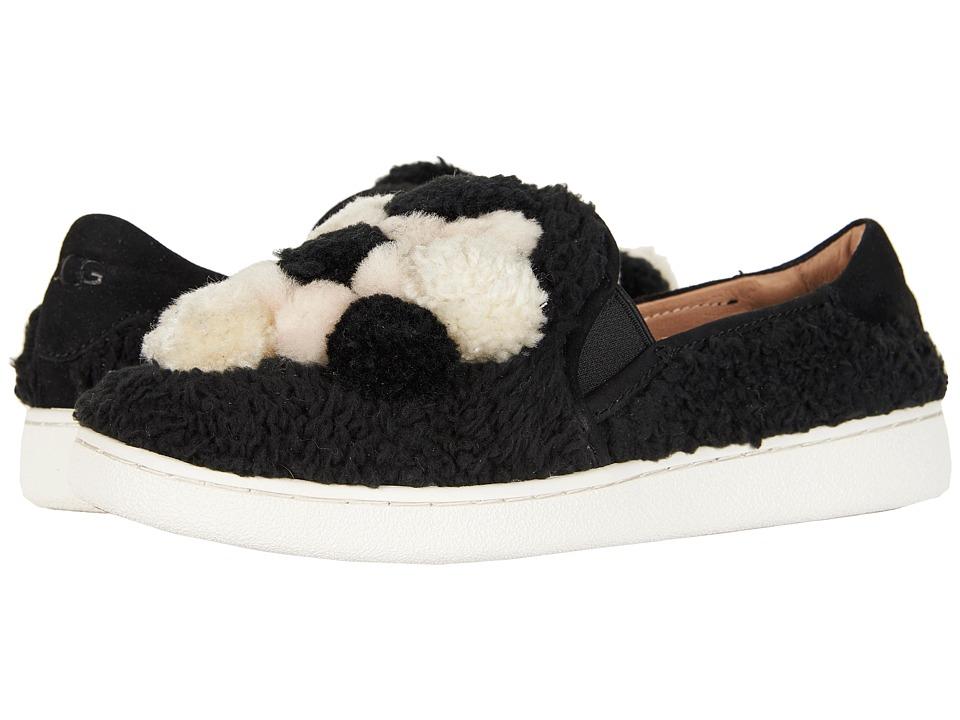 UGG Ricci Pom Pom (Black) Slip-On Shoes