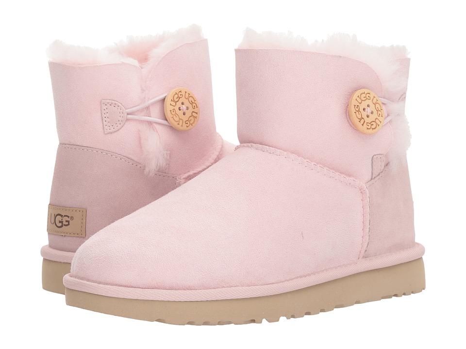 UGG Mini Bailey Button II (Seashell Pink) Women