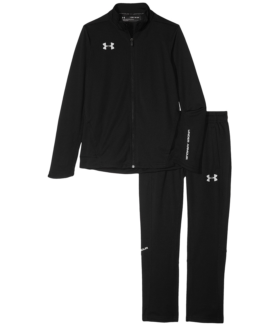 Under Armour Kids - UA Challenger II Knit Warm Up Jacket (Big Kids) (Black/Green Typhoon/Graphite) Boys Clothing