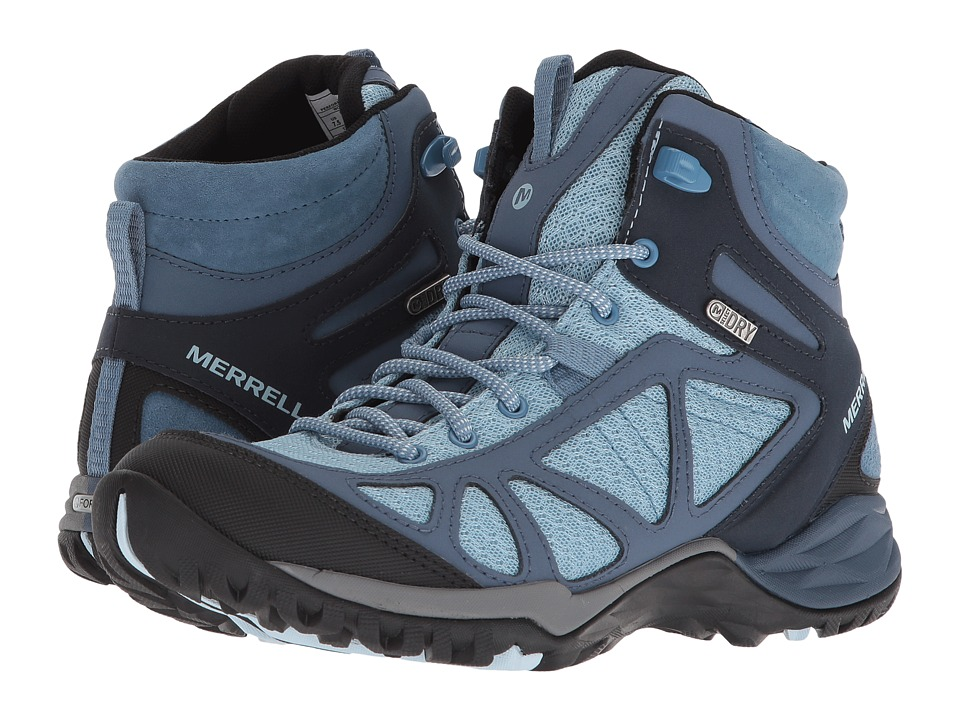 Merrell Siren Sport Q2 Mid Waterproof (Blue) Women's Shoes