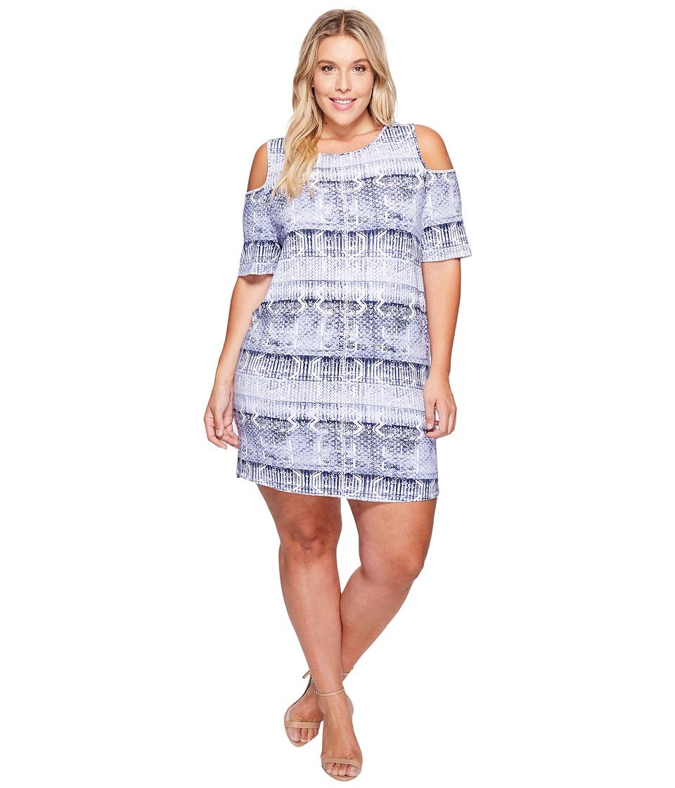 Tart Plus Size Tabitha Dress (Work Black Print) Women