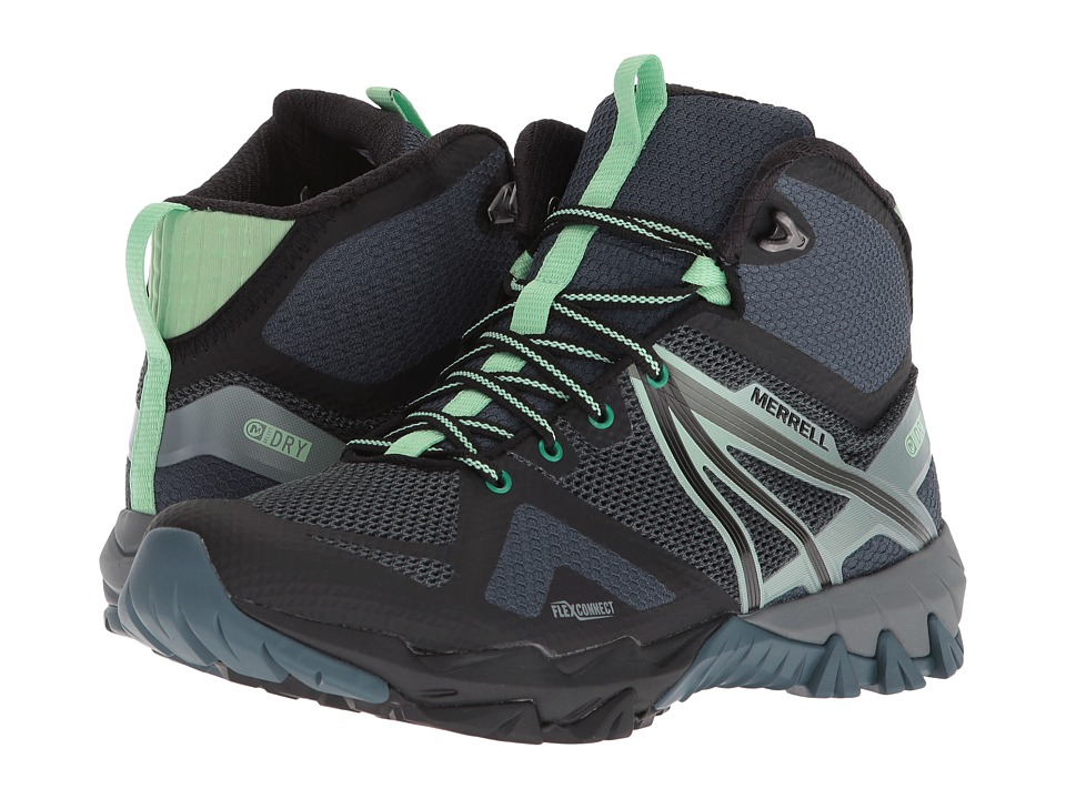 Merrell MQM Flex Mid Waterproof (Grey/Black) Women's Shoes