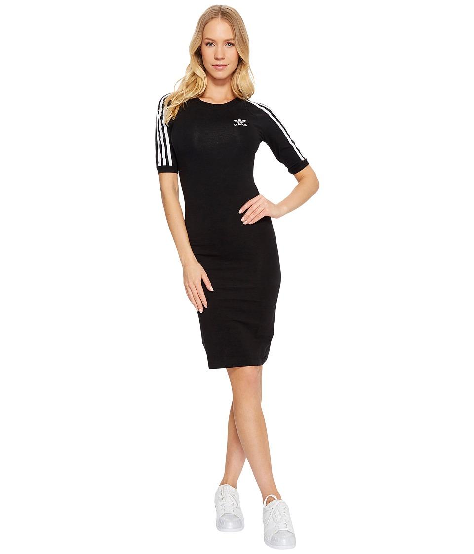 Image of adidas Originals - 3 Stripes Dress (Black) Women's Dress