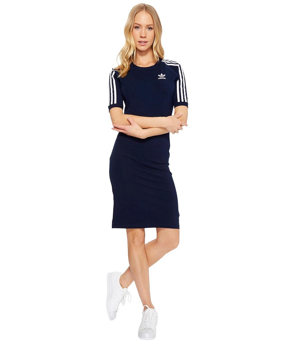 Image of adidas Originals - 3 Stripes Dress (Collegiate Navy) Women's Dress