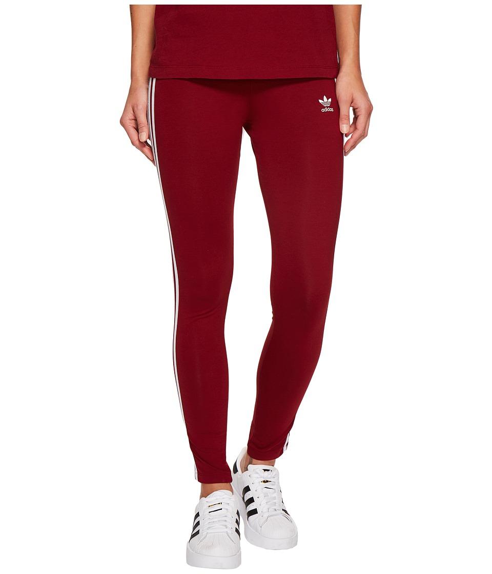 adidas Originals 3 Stripes Tights (Collegiate Burgundy) Women