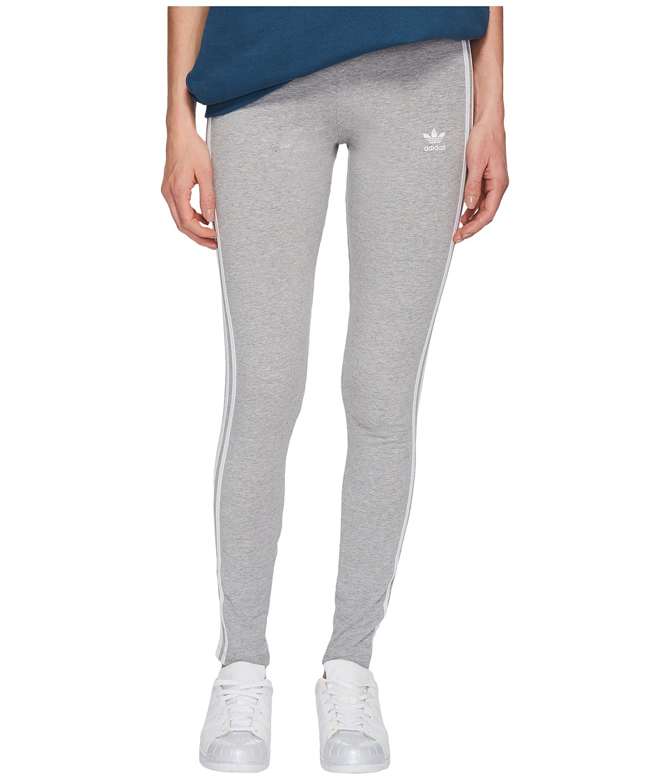 adidas Originals 3 Stripes Tights (Medium Grey Heather) Women