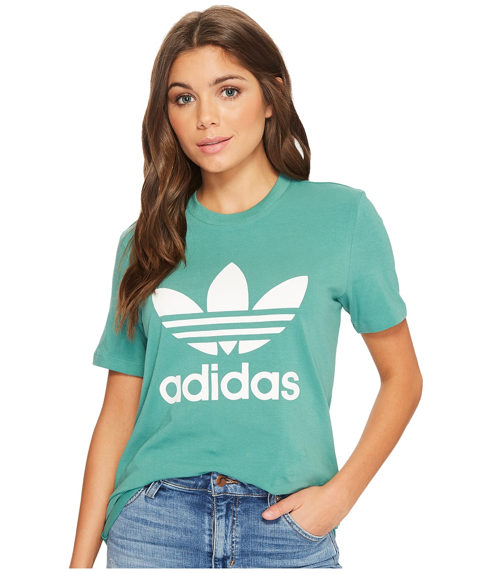 adidas Originals - Trefoil Tee (Future Hydro/White) Womens T Shirt