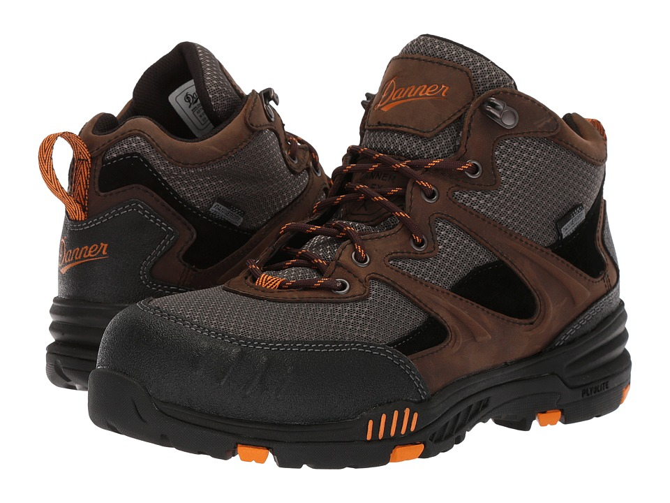 Danner - Springfield Non-Metallic Safety Toe (Brown/Orange) Mens Shoes
