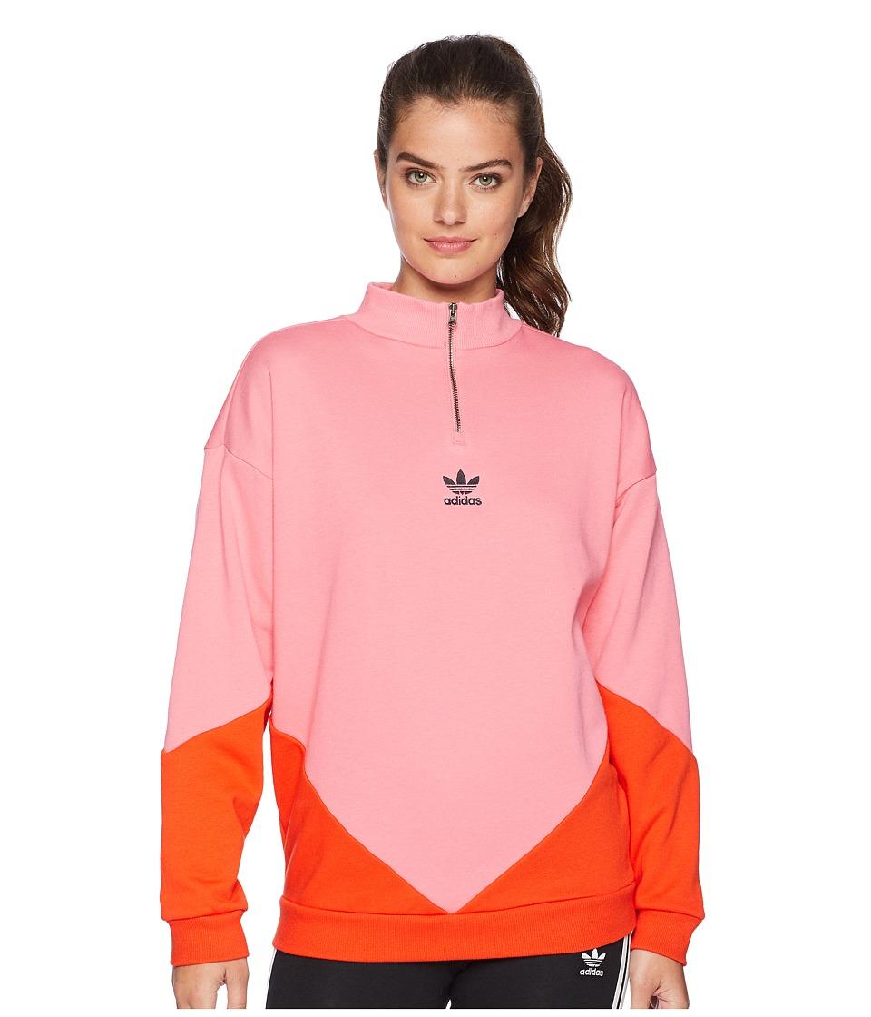 adidas Originals CLRDO Sweatshirt (Chalk Pink/Bold Orange) Women
