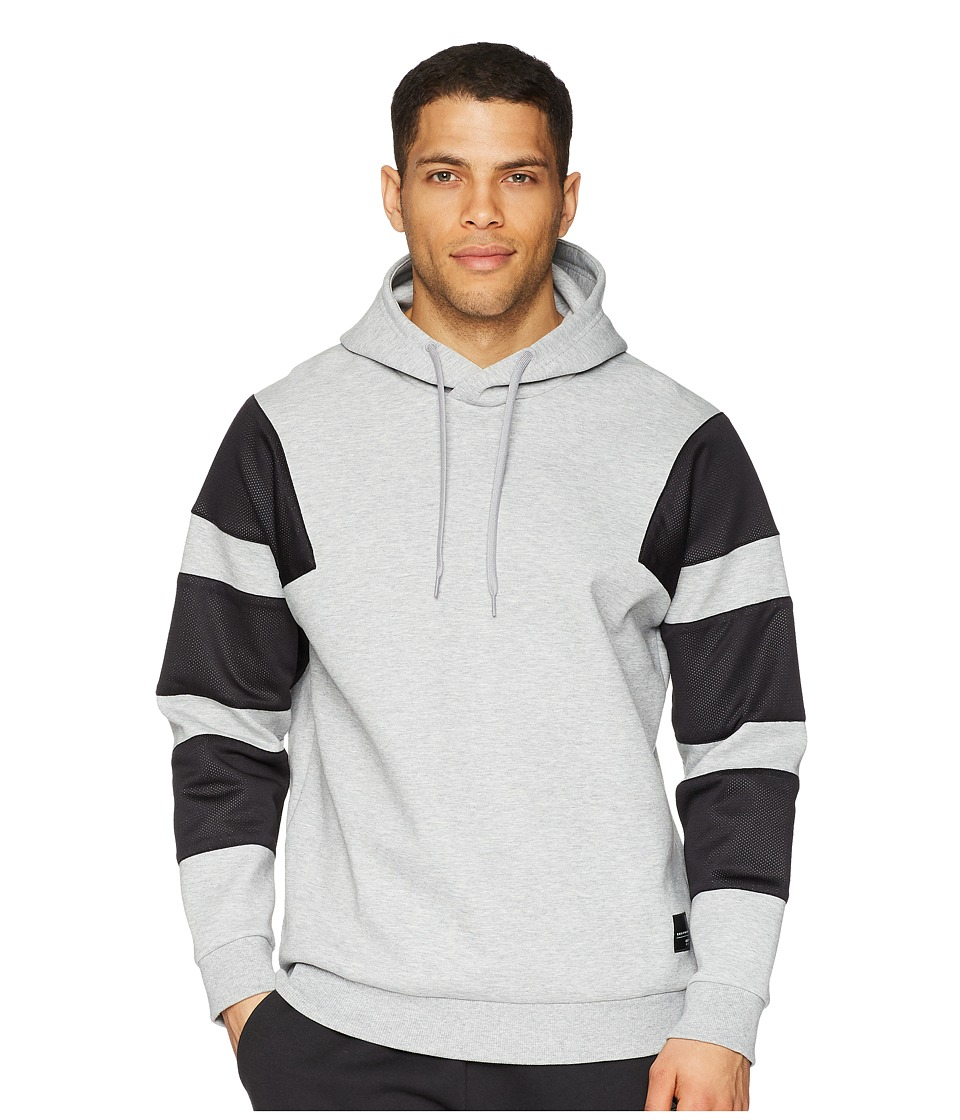 adidas Originals - 3-Stripes Hoodie (Medium Grey Heather) Mens Sweatshirt