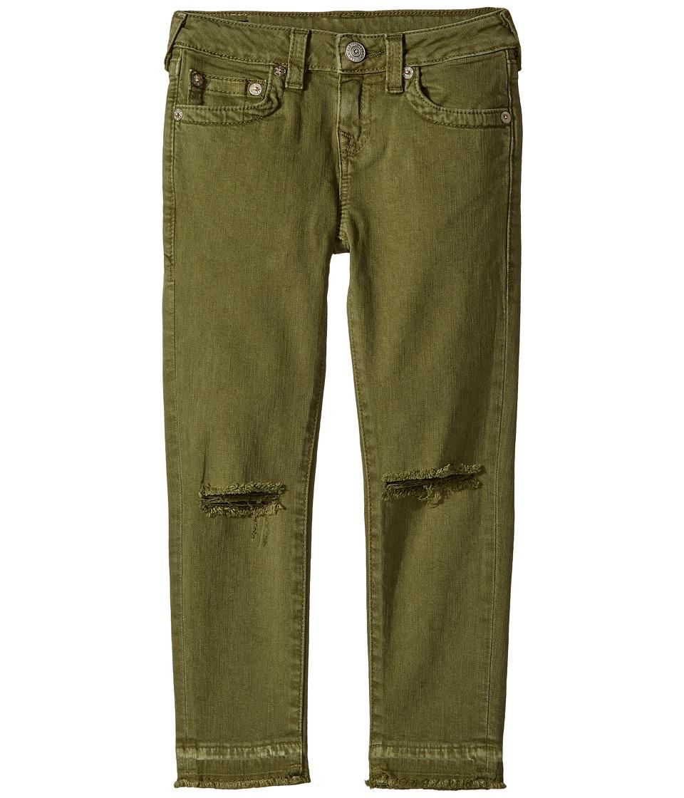 True Religion Kids Casey Ankle Skinny Jeans in Olive (Big Kids) (Olive) Girl