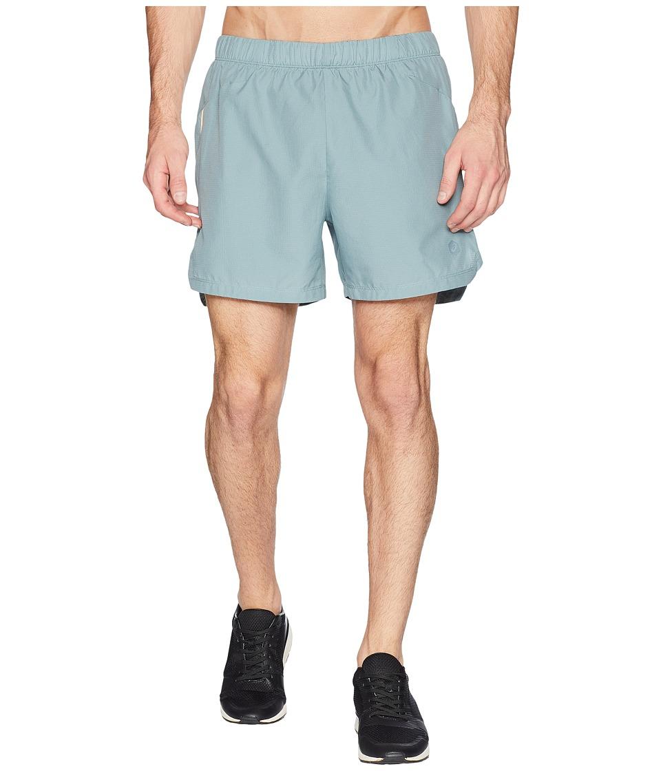 ASICS - Cool 2-N-1 5 Shorts (Stormy Sea) Mens Shorts
