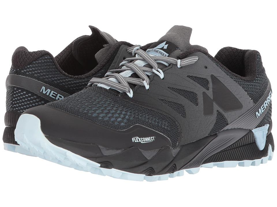 MerrellAgility Peak Flex 2 E-Mesh  (Black) Womens Shoes