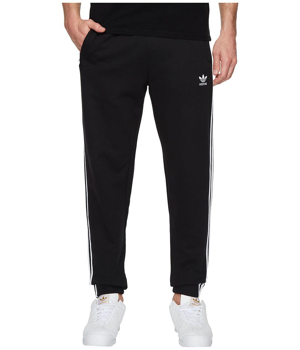 Image of adidas Originals - 3-Stripes Sweatpants (Black) Men's Workout