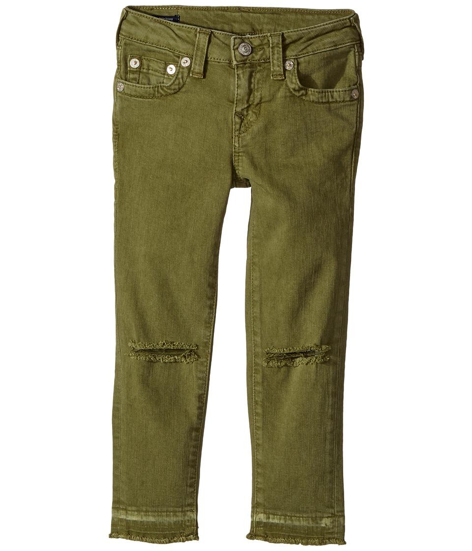 True Religion Kids Casey Ankle Skinny Jeans in Olive (Toddler/Little Kids) (Olive) Girl