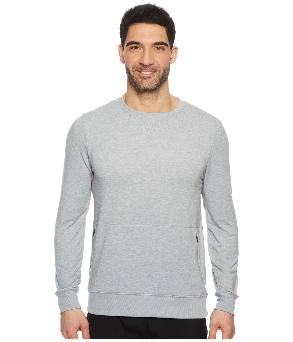 ASICS Legends Crew Top (Stone Grey Heather) Men