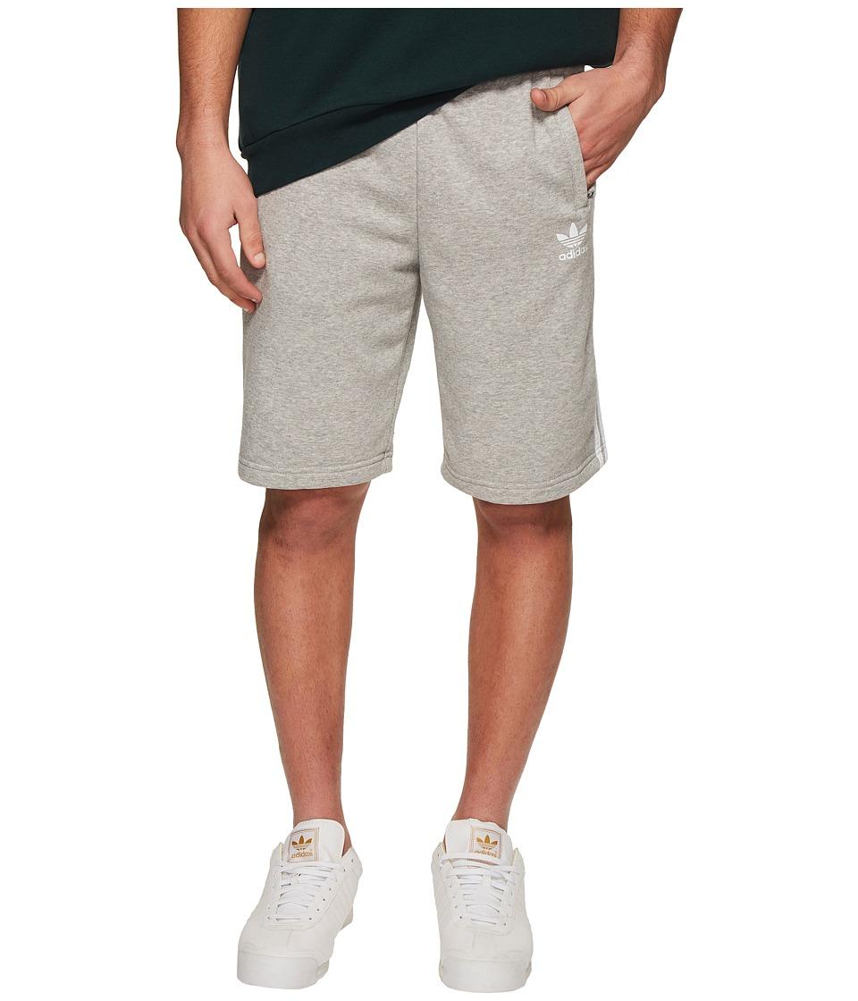 Image of adidas Originals - 3-Stripes Shorts (Medium Grey Heather/White) Men's Shorts