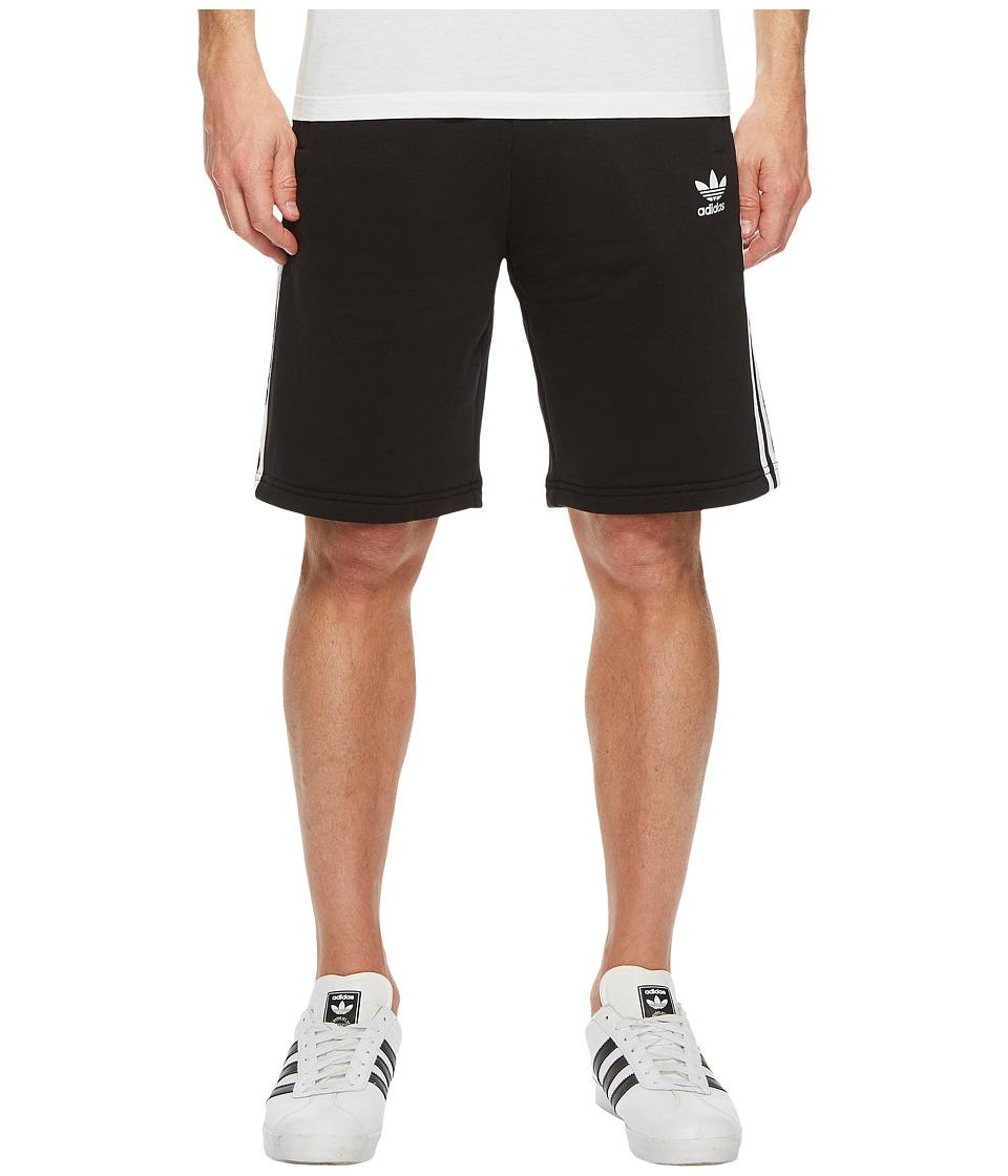 Image of adidas Originals - 3-Stripes Shorts (Black/White) Men's Shorts