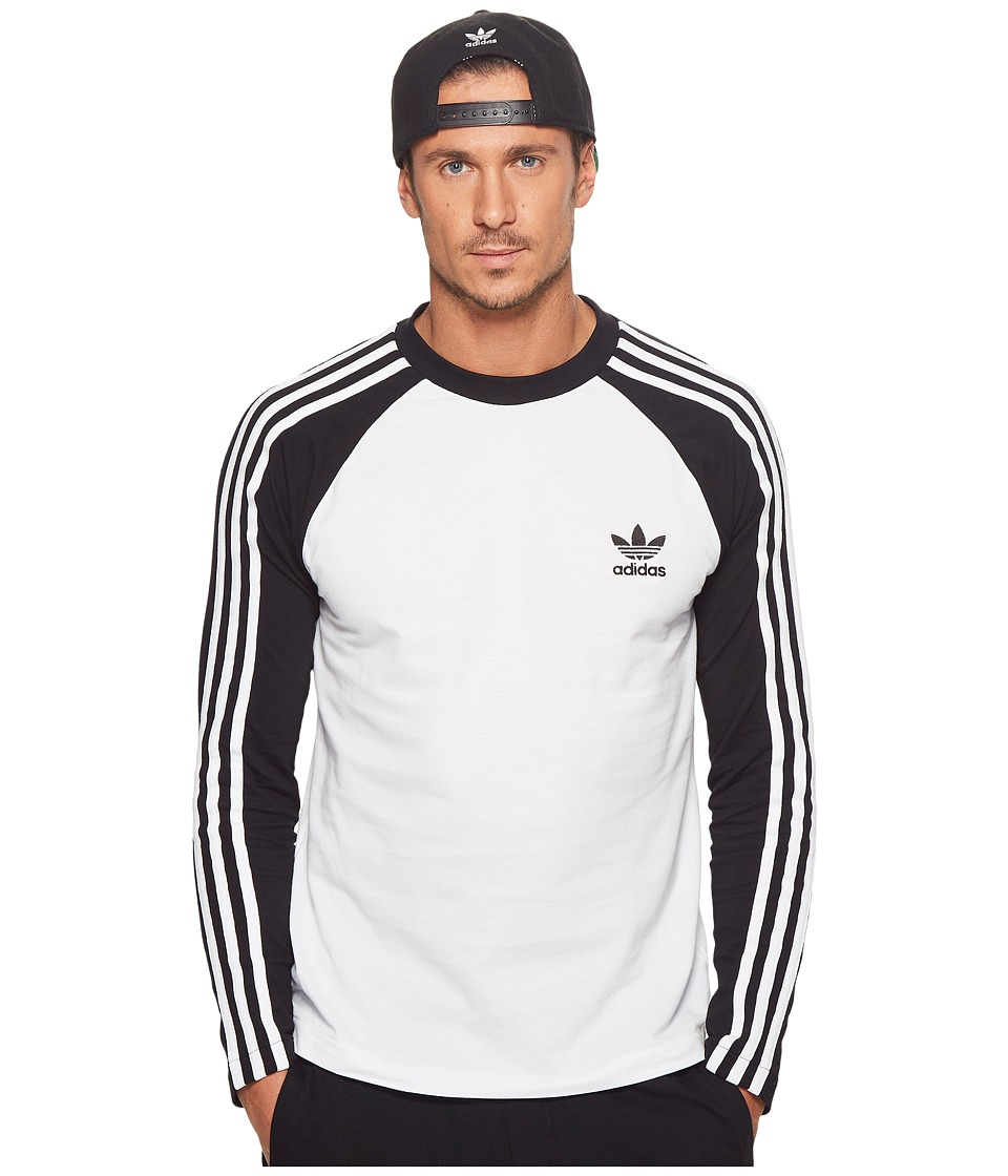 Image of adidas Originals - 3-Stripes Long Sleeve Tee (Black) Men's T Shirt