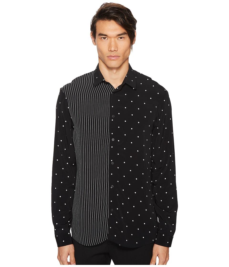 McQ - Mixed Pattern Sheehan Shirt (Darkest Black) Mens Clothing