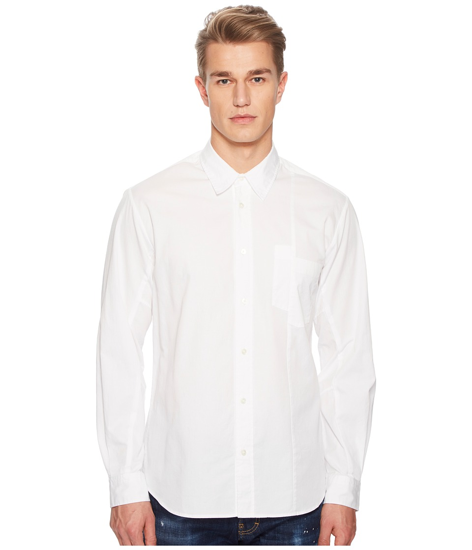 McQ - Mismatched Pocket Shirt (Optic White) Mens Clothing