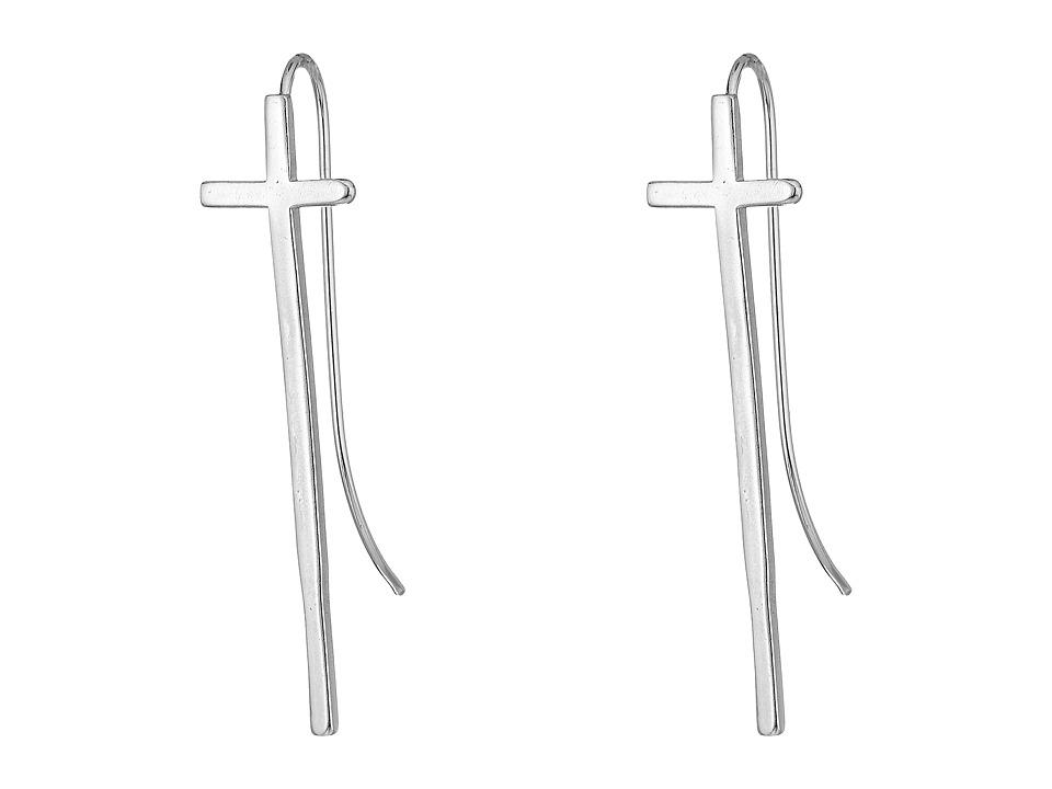 Alex and Ani - Cross Earrings (Sterling Silver) Earring