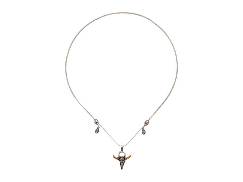 Alex and Ani Spirited Skull Expandable Necklace - Rafaelian Silver