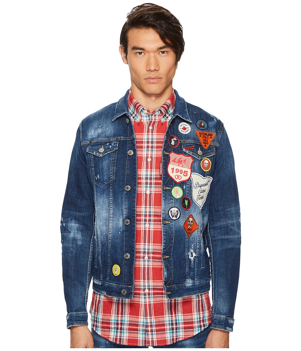DSQUARED2 - Patchwork Denim Jacket (Blue) Mens Coat